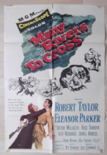 Many Rivers to Cross, Original Movie Poster, Robert Taylor, Eleanor Parker, '55